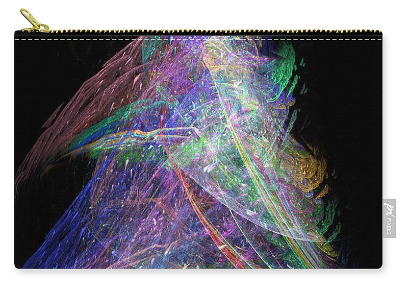 Abstract Carry-all Pouch featuring the digital art Christmas Tree 49b 29e by Russell Kightley