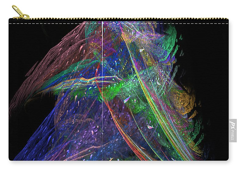Abstract Carry-all Pouch featuring the digital art Christmas Tree 49b Star by Russell Kightley