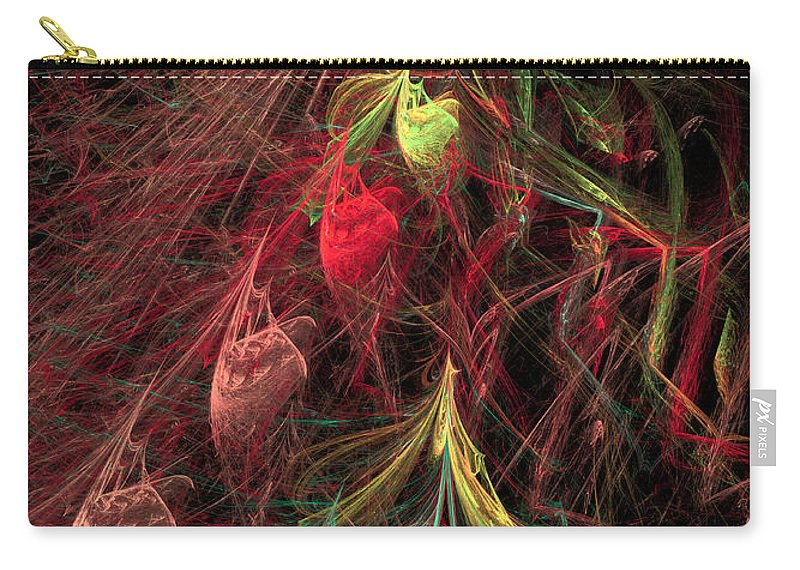 Abstract Carry-all Pouch featuring the digital art Christmas Tree 72 by Russell Kightley