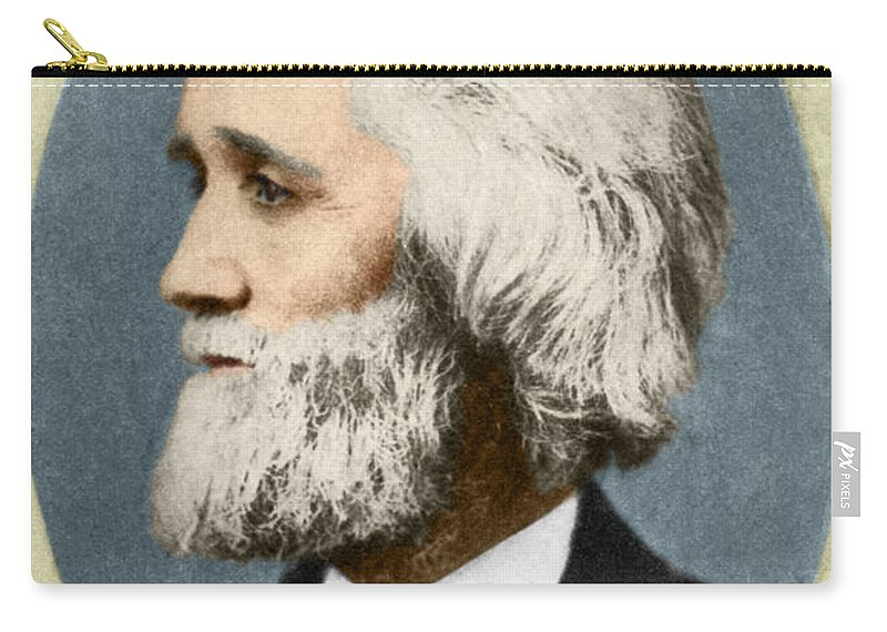 History Carry-all Pouch featuring the photograph Christopher Sholes, American Inventor by Photo Researchers
