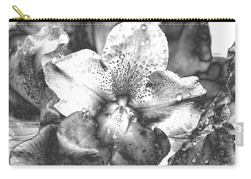 Flower Carry-all Pouch featuring the photograph Chrome Flower by Michael Merry