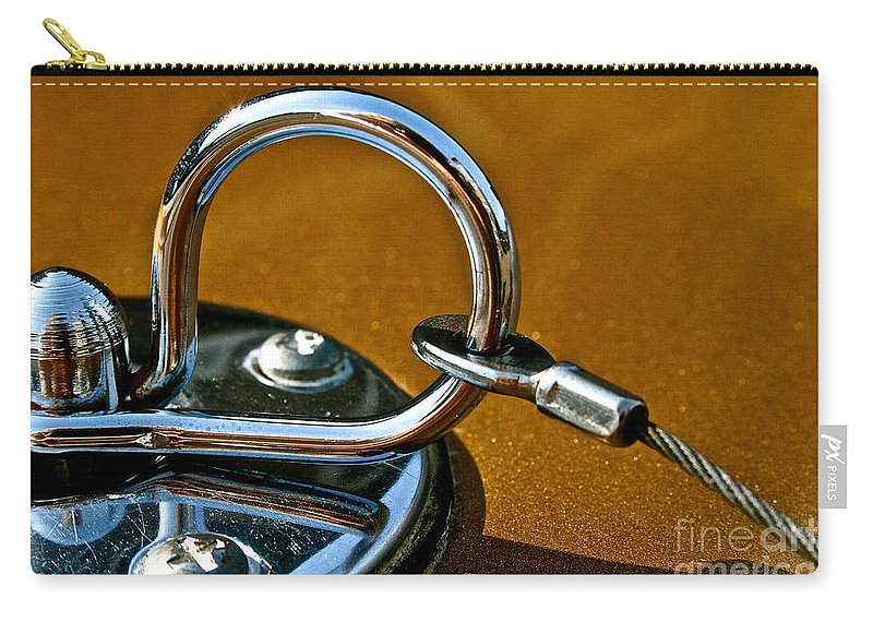 Auto Carry-all Pouch featuring the photograph Chrome Lock by Susan Herber