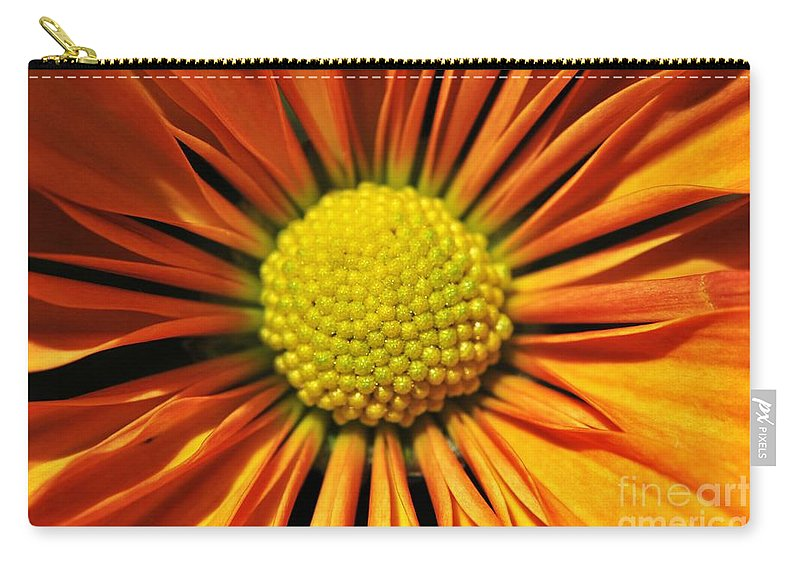 Yhun Suarez Carry-all Pouch featuring the photograph Chrysanthemum by Yhun Suarez