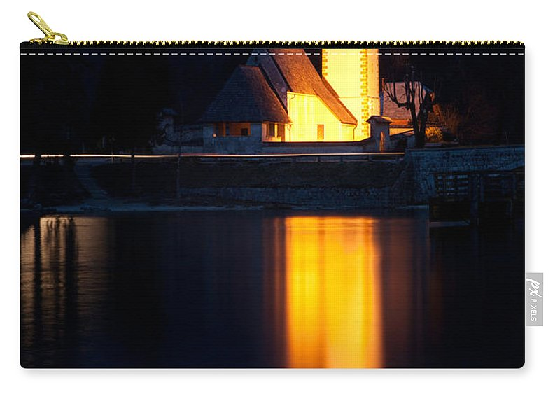 Bohinj Carry-all Pouch featuring the photograph Church At Dusk by Ian Middleton