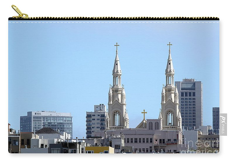 San Carry-all Pouch featuring the photograph Church Top San Francisco by Henrik Lehnerer