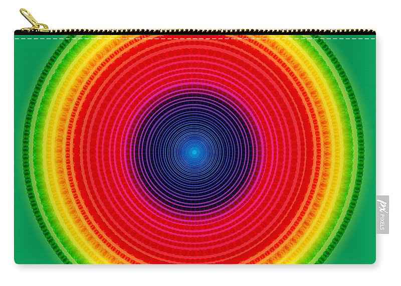 Abstract Carry-all Pouch featuring the digital art Circle X-ray by Atiketta Sangasaeng