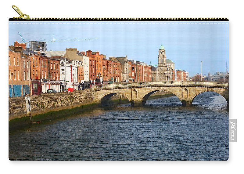 Architecture Carry-all Pouch featuring the photograph City Of Dublin by Artur Bogacki