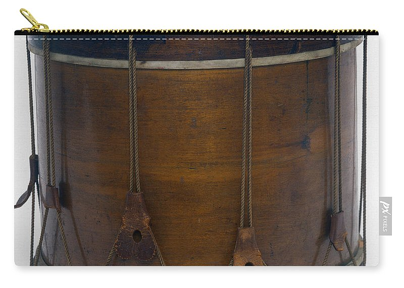 1861 Carry-all Pouch featuring the photograph Civil War Drum by Granger