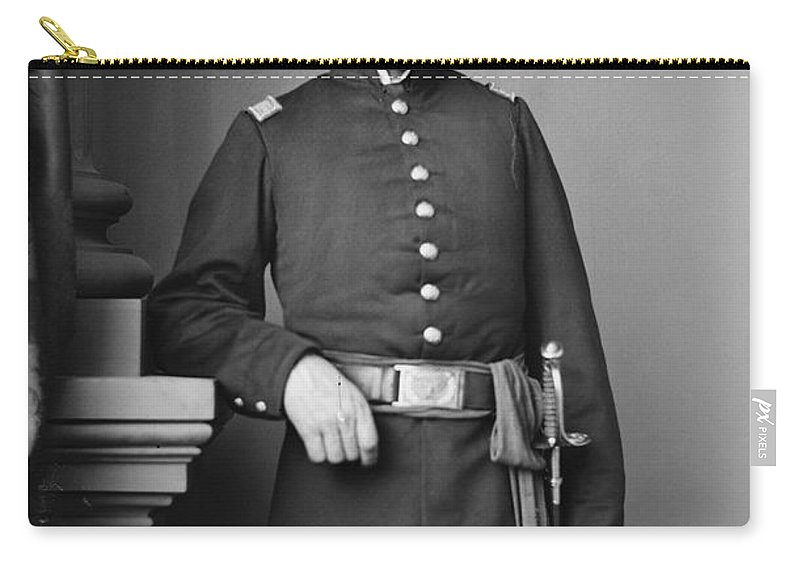 1865 Carry-all Pouch featuring the photograph Civil War Major, C1865 by Granger