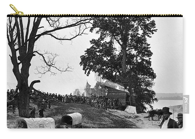 1864 Carry-all Pouch featuring the photograph Civil War: Supply Base, 1864 by Granger