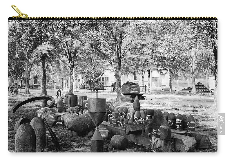 1865 Carry-all Pouch featuring the photograph Civil War: Torpedo Shells by Granger