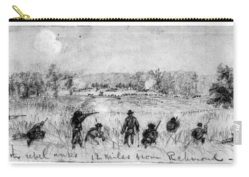 1863 Carry-all Pouch featuring the photograph Civil War: Union Troops by Granger