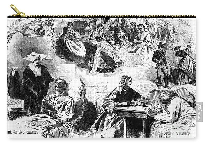 1862 Carry-all Pouch featuring the photograph Civil War: Women, 1862 by Granger