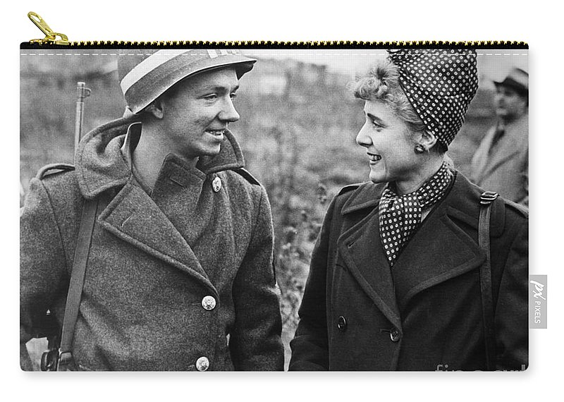 1945 Carry-all Pouch featuring the photograph Clare Boothe Luce (1903-1987) by Granger