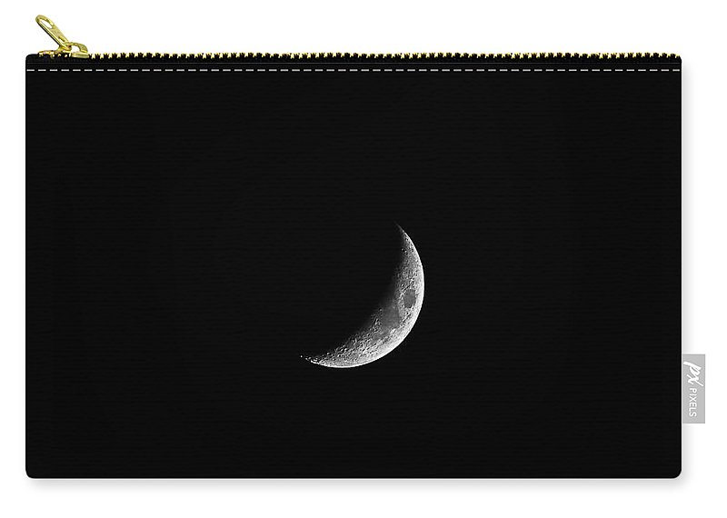 Moon Carry-all Pouch featuring the photograph Classic Crescent by Al Powell Photography USA