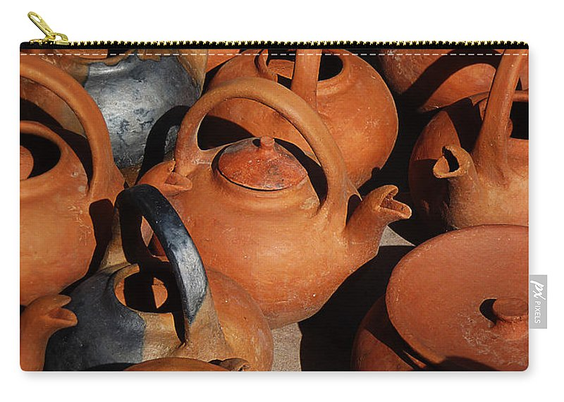 Still Life Carry-all Pouch featuring the photograph Clay Factory In Argentina by Xueling Zou