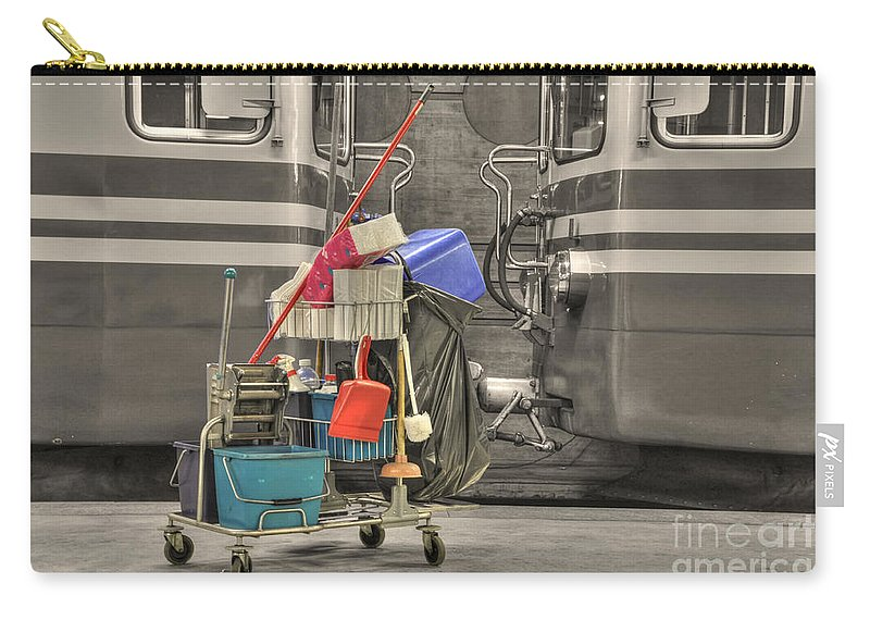 Cleaning Equipment Carry-all Pouch featuring the photograph Cleaning Equipment by Mats Silvan