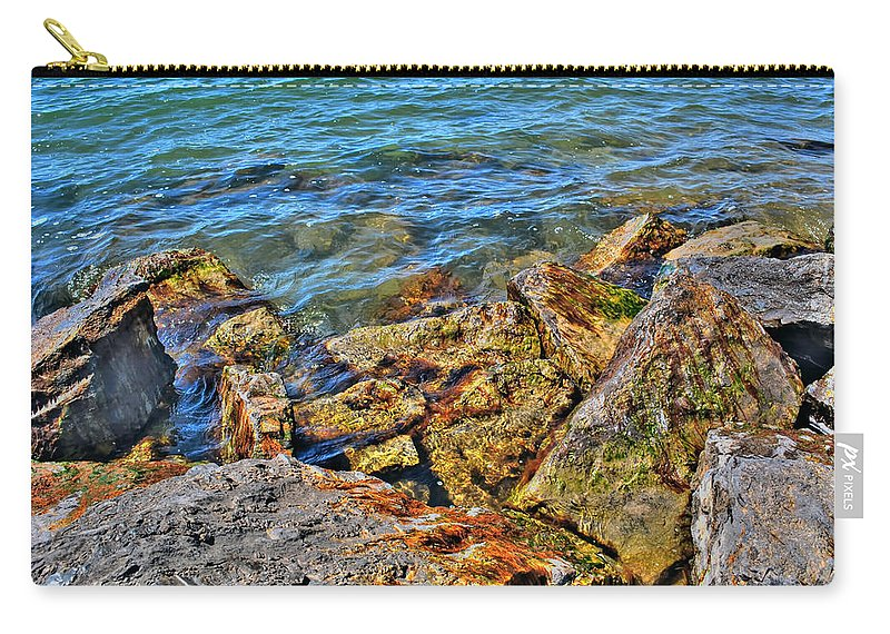 Carry-all Pouch featuring the photograph Clear Calm Collective by Michael Frank Jr