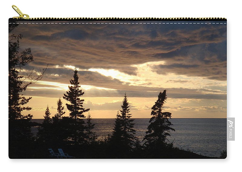 Sky Carry-all Pouch featuring the photograph Clearing Sky by Bonfire Photography