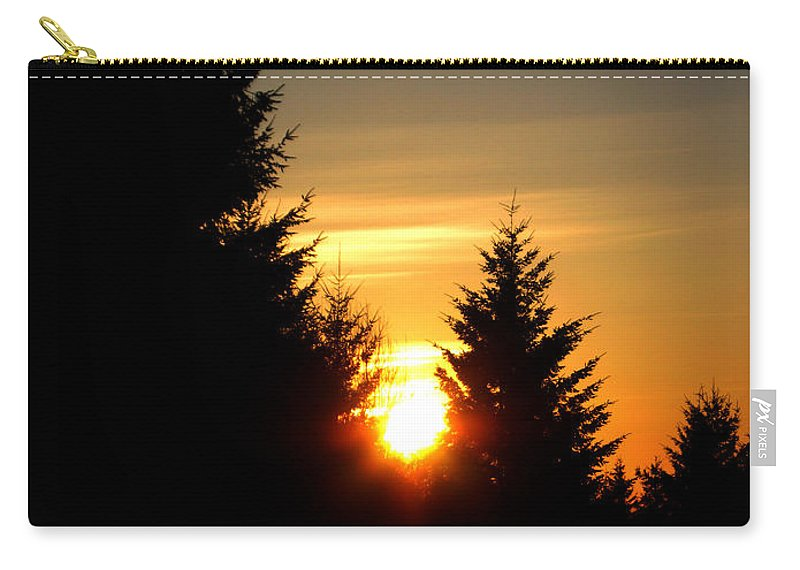 Landscape Carry-all Pouch featuring the photograph Clearing The Trees In The Morning by Carlene Salazar