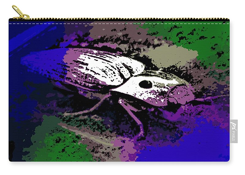 Click Carry-all Pouch featuring the photograph Click Beetle On Porsche by George Pedro