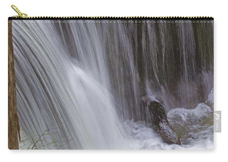 Waterfalls Carry-all Pouch featuring the photograph Cliff Falls In Maple Ridge by Randy Harris