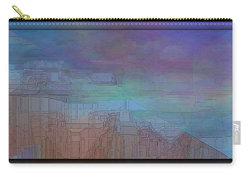 Abstract Carry-all Pouch featuring the digital art Climate Differential by Tim Allen