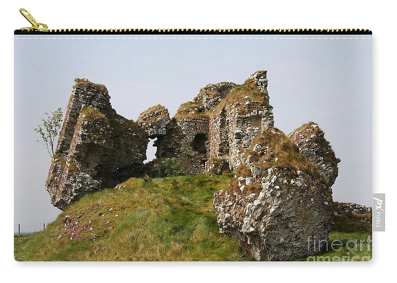 Clonmacnoise Castle Carry-all Pouch featuring the photograph Clonmacnoise Castle Ruin - Ireland by Christiane Schulze Art And Photography