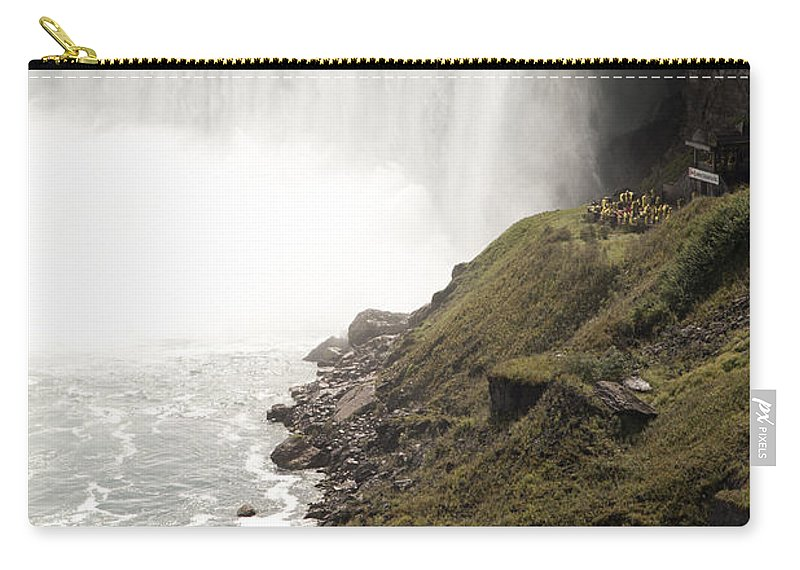Niagara Carry-all Pouch featuring the photograph Close to the Falls by Amanda Barcon