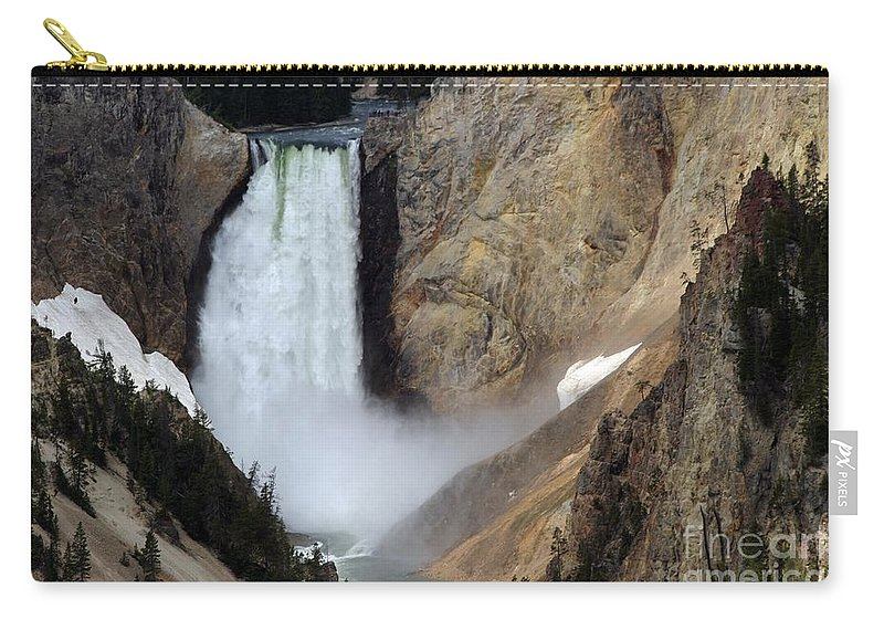 Lower Falls Carry-all Pouch featuring the photograph Close Up Of Lower Falls by Living Color Photography Lorraine Lynch