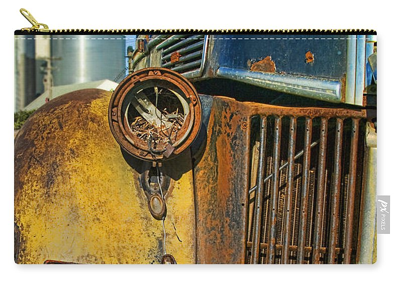 Truck Carry-all Pouch featuring the photograph Close Up Of Rusty Truck by Jill Battaglia