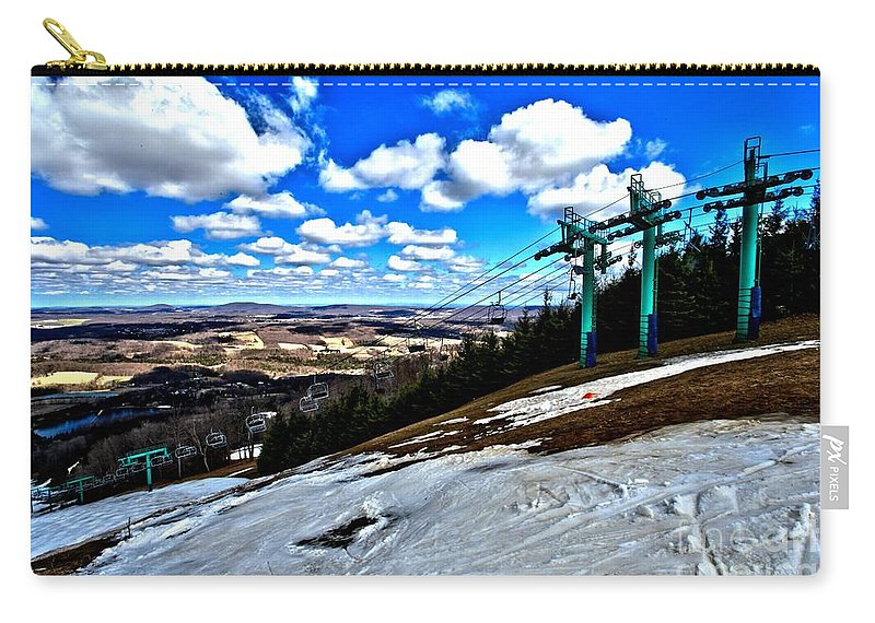 Skiing Carry-all Pouch featuring the photograph Closing Day by Adam Jewell