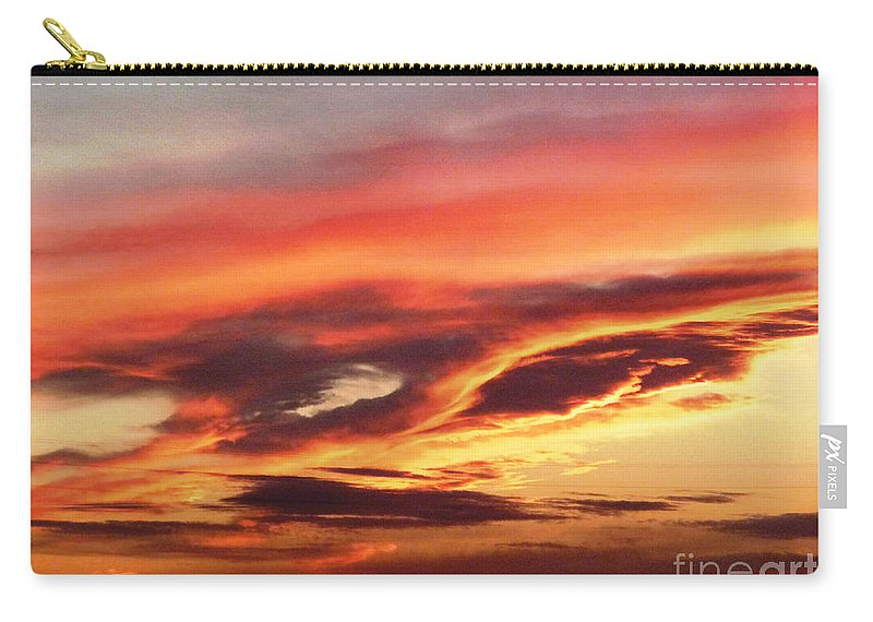 Cloud Face Carry-all Pouch featuring the photograph Cloud Face by Afroditi Katsikis