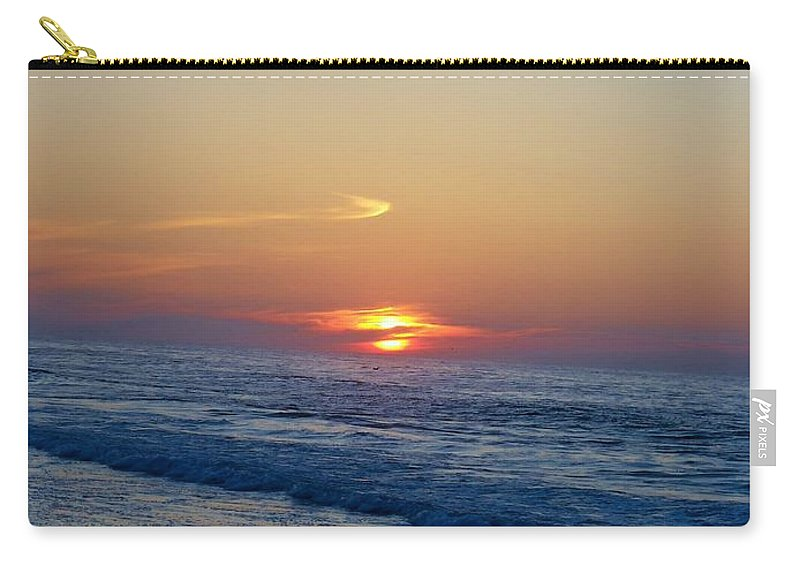Sunrise Carry-all Pouch featuring the photograph Cloud Hugger by Art Dingo