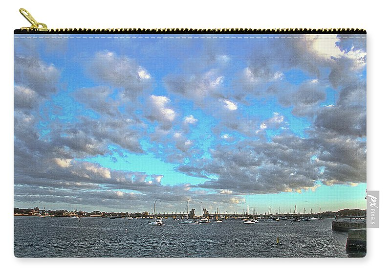 Clouds Old Fort St Augustine Florida Boats Water Intracoastal Waterway Carry-all Pouch featuring the photograph Cloud View From The Old Fort by Alice Gipson