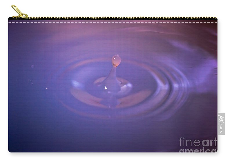 Cloud Carry-all Pouch featuring the photograph Clouded Droplet by Scott Hervieux