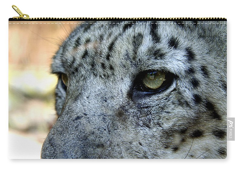 Leopard Carry-all Pouch featuring the photograph Clouded Leopard Face by Heather Lennox