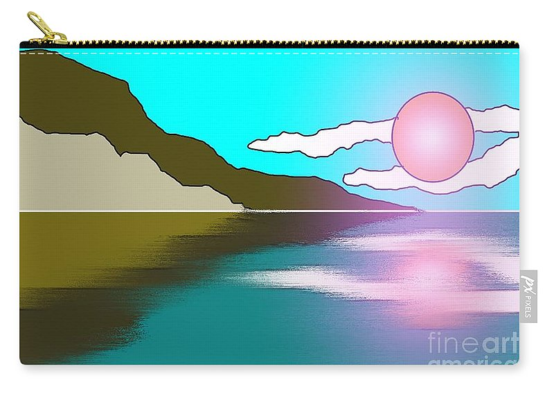 Clouds Carry-all Pouch featuring the painting Clouded Sunrise by George Pedro
