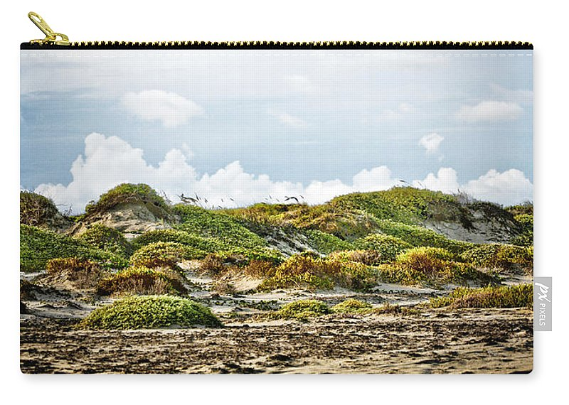 Texas Carry-all Pouch featuring the photograph Clouds And Dunes by Marilyn Hunt