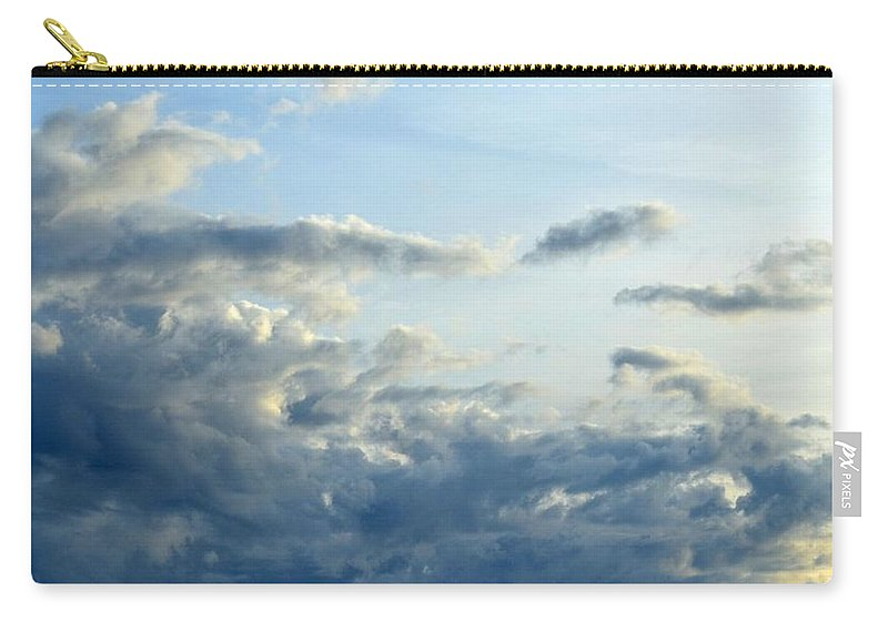 Cloud Carry-all Pouch featuring the photograph Clouds Of Blue by Maria Urso