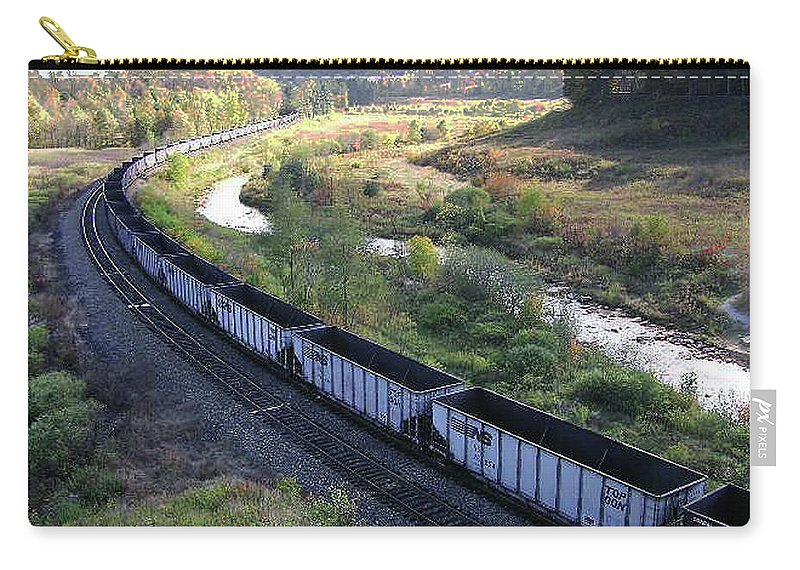 2d Carry-all Pouch featuring the photograph Coal Train - Johnstown by Brian Wallace