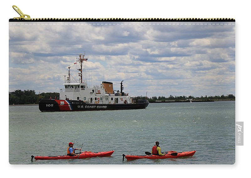 Coast Guard Carry-all Pouch featuring the photograph Coast Guard In Canada by Andrew Fare