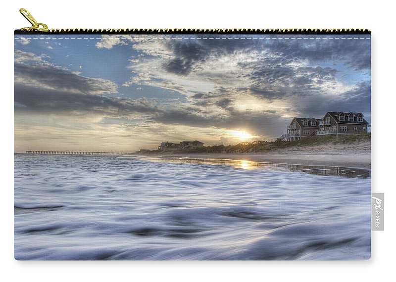 Topsail Carry-all Pouch featuring the photograph Coastal Currents by Betsy Knapp