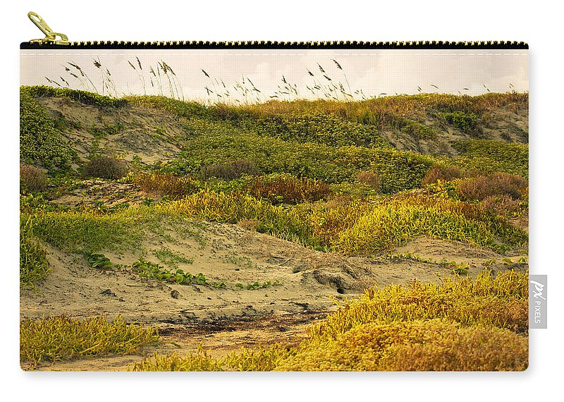 Texas Carry-all Pouch featuring the photograph Coastal Plants On Dunes by Marilyn Hunt