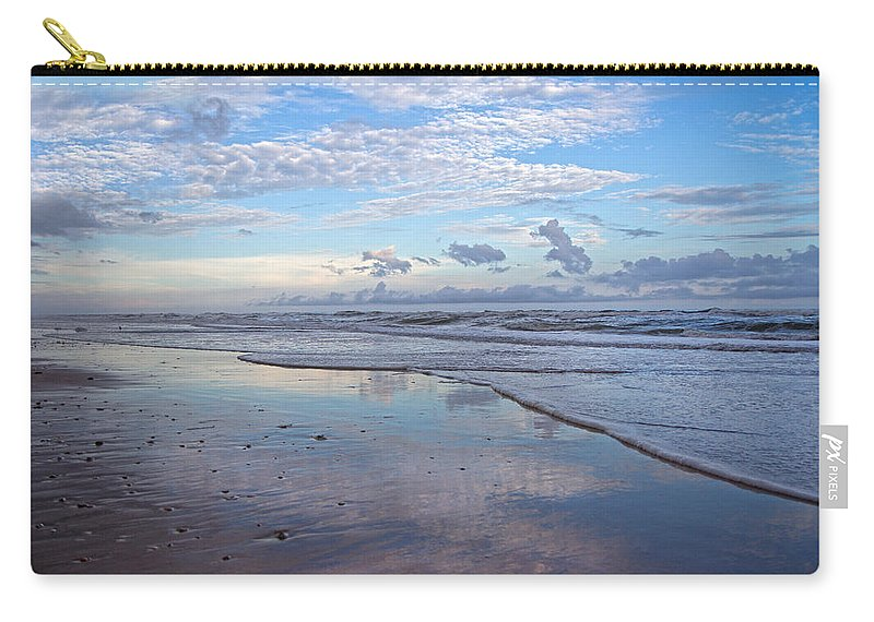 Topsail Carry-all Pouch featuring the photograph Coastal Reflections by Betsy Knapp