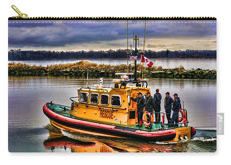 Boats Carry-all Pouch featuring the photograph Coastguard Hdr by Randy Harris
