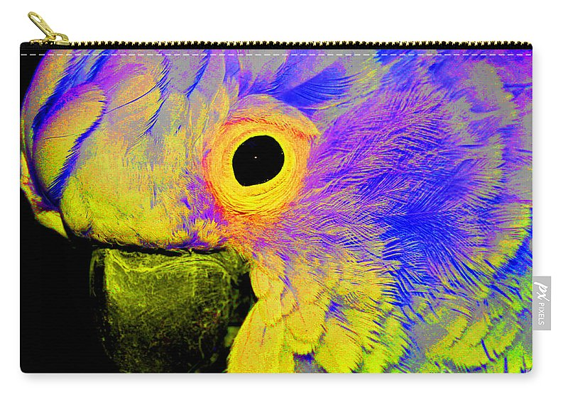 Cockatoo Carry-all Pouch featuring the photograph Cockatoo Of A Different Color by Smilin Eyes Treasures