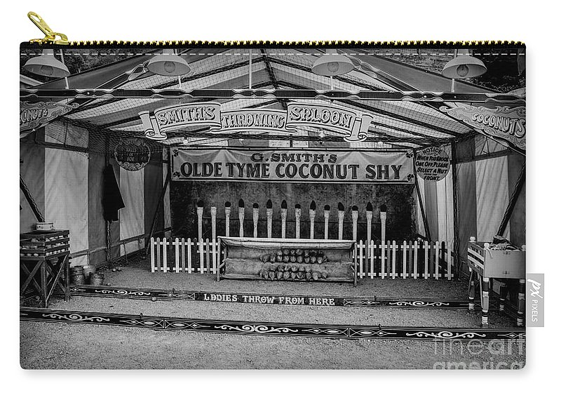 British Carry-all Pouch featuring the photograph Coconut Shy 2 by Adrian Evans