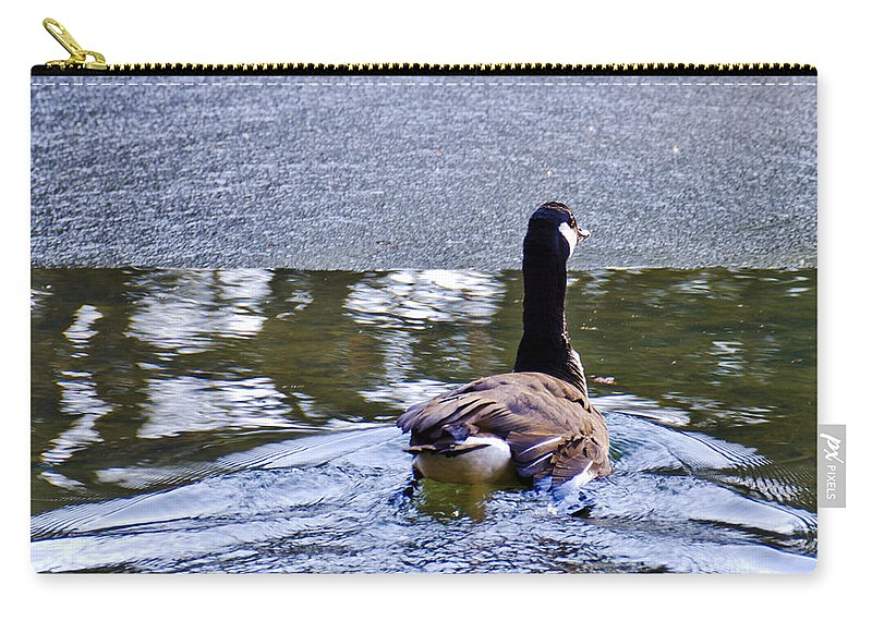 Usa Carry-all Pouch featuring the photograph Cold Swim In The Pond by LeeAnn McLaneGoetz McLaneGoetzStudioLLCcom