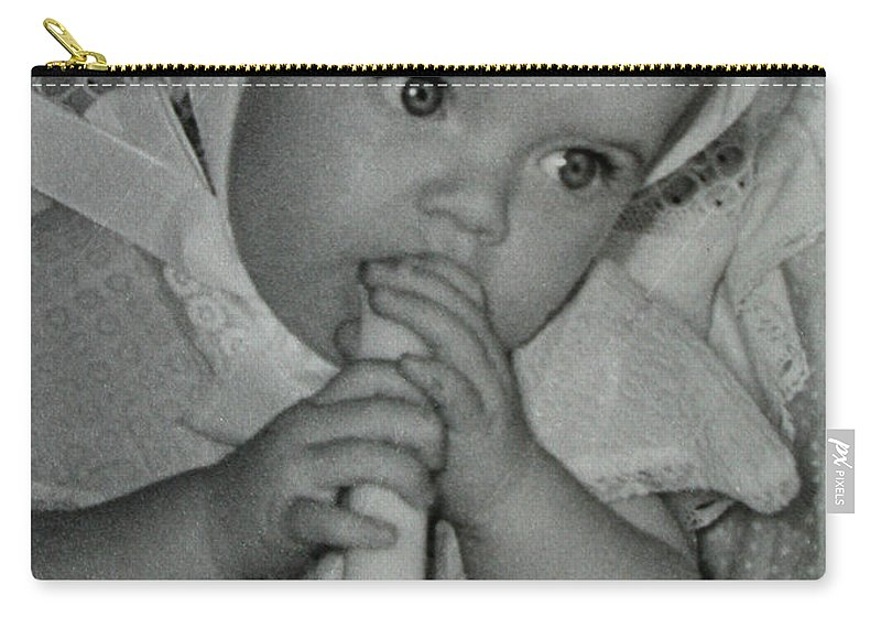 Colette Carry-all Pouch featuring the photograph Colette 1 Year Old With 3 Eye Opend by Colette V Hera Guggenheim